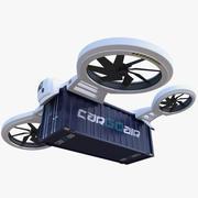 Conceito de zangão Quadrocopter de carga 3d model
