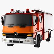 Пожарная машина Mercedes Benz Atego - Готова к игре (Низкополигональная) 3d model