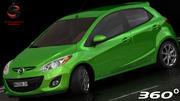 Mazda 2 2011 (Low Interior) 3d model