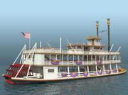 Mark Twain Riverboat 3d model