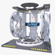 Sci-Fi-Zeit-Teleportationsmaschine 3d model