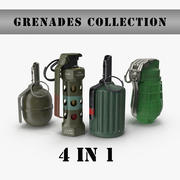 Grenades collection 1 3d model