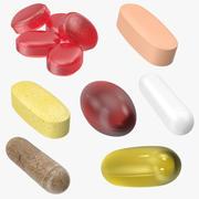 Vitamin Pills 3d model