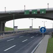 Gata Highway 3d model