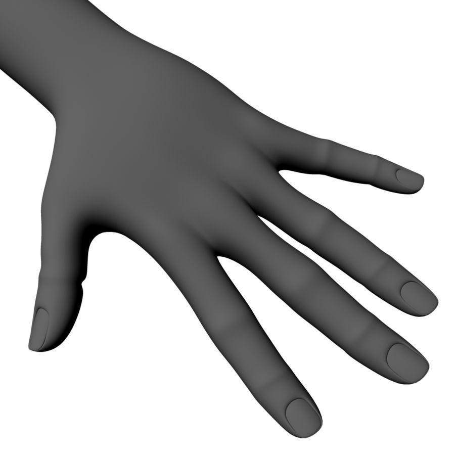 dłoń royalty-free 3d model - Preview no. 1