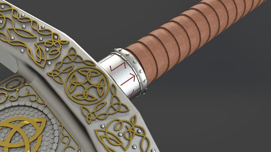 Ancient sword royalty-free 3d model - Preview no. 6
