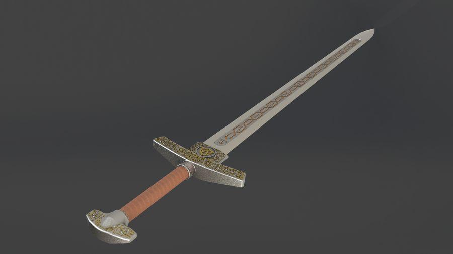 Ancient sword royalty-free 3d model - Preview no. 8