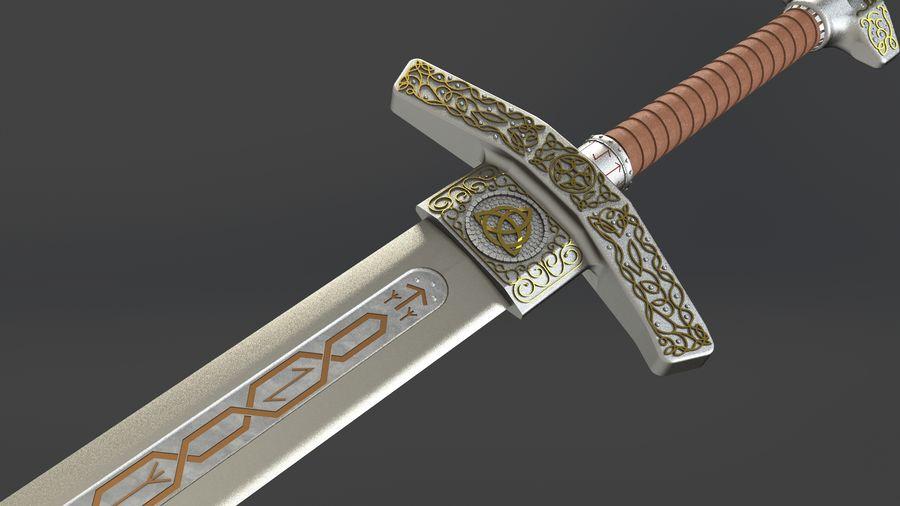 Ancient sword royalty-free 3d model - Preview no. 7