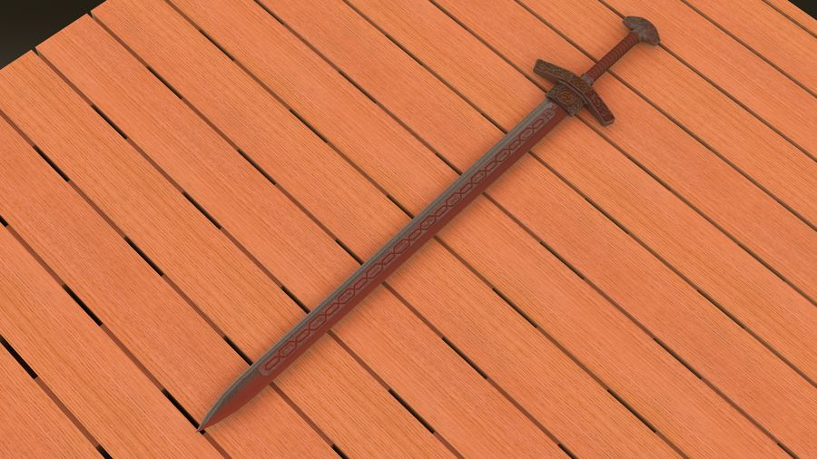 Ancient sword royalty-free 3d model - Preview no. 10