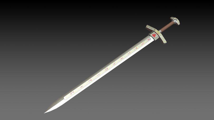 Ancient sword royalty-free 3d model - Preview no. 13