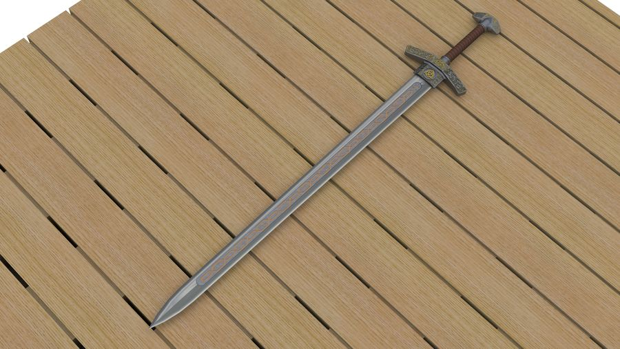 Ancient sword royalty-free 3d model - Preview no. 1
