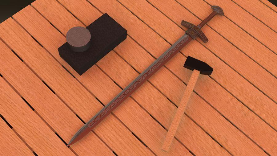 Ancient sword royalty-free 3d model - Preview no. 12