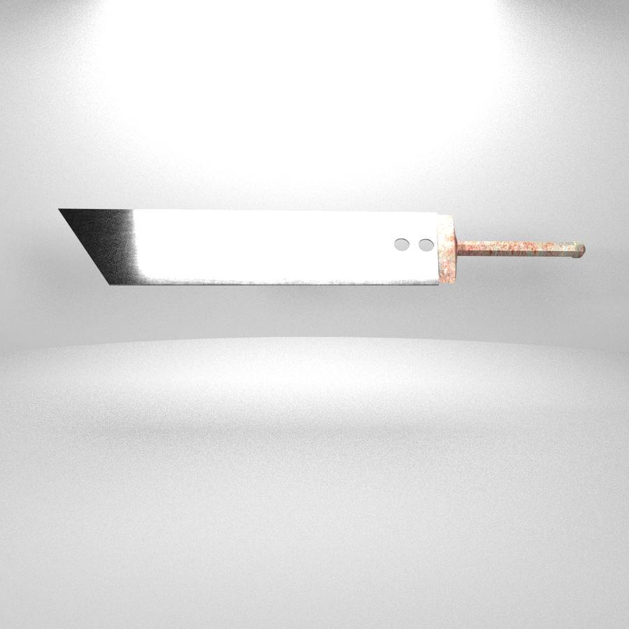 Épée Buster royalty-free 3d model - Preview no. 4