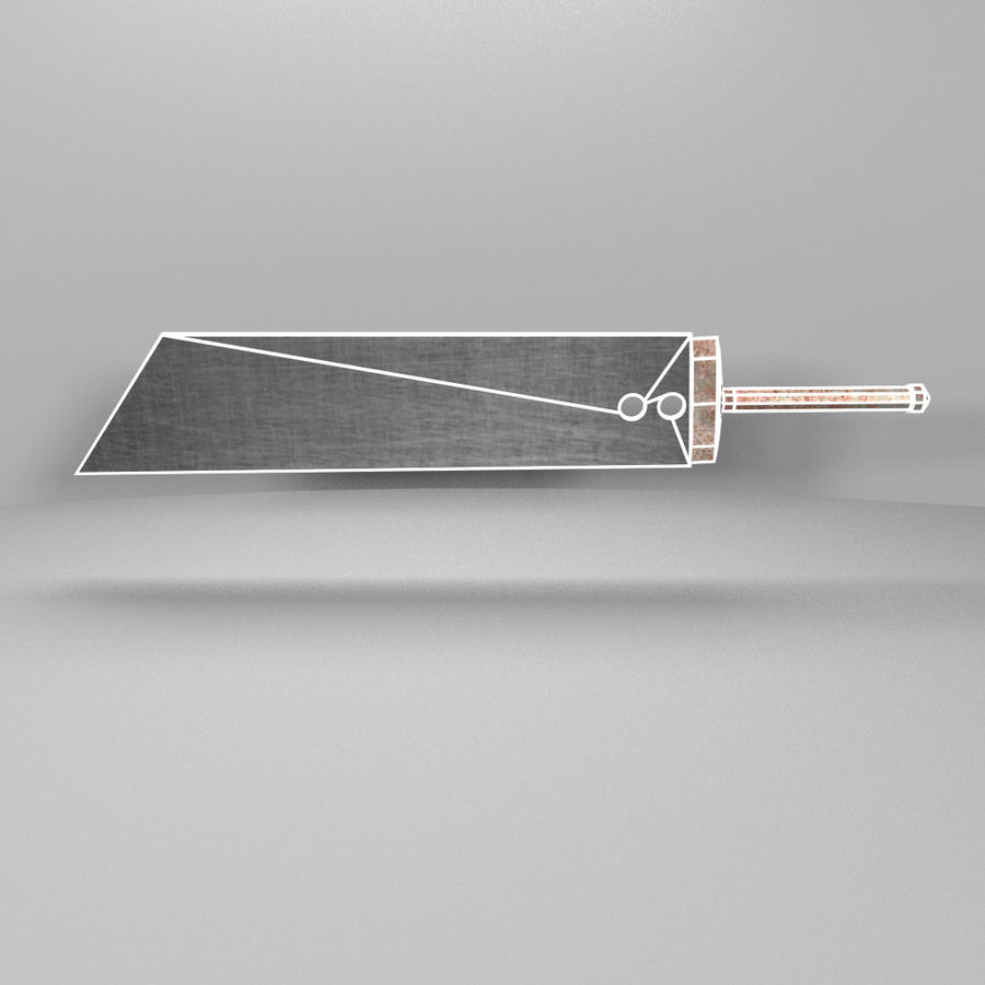 Épée Buster royalty-free 3d model - Preview no. 2