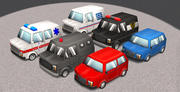Cartoon Cars Vol 1 3d model