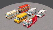 Cartoon Cars Vol 3 3d model