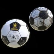 Klassisk fotboll med låg poly 3d model