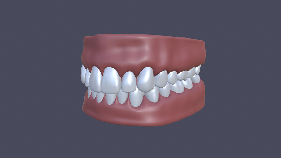 Jaw royalty-free 3d model - Preview no. 2