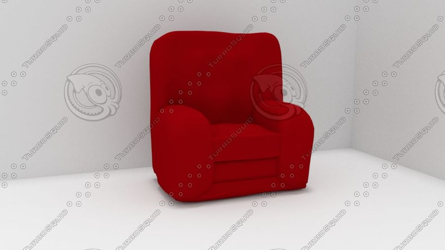 Red Chair (Arch Viz) royalty-free 3d model - Preview no. 1