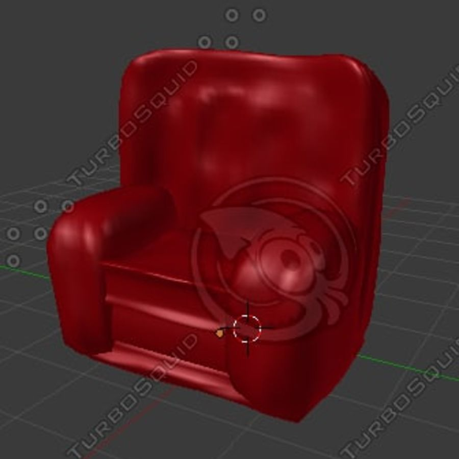 Red Chair (Arch Viz) royalty-free 3d model - Preview no. 4