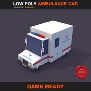 Coche de ambulancia de baja poli modelo 3d