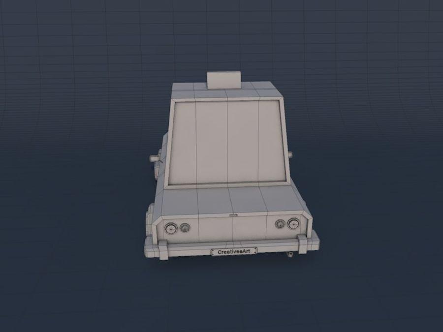 低ポリタクシー車2 royalty-free 3d model - Preview no. 8