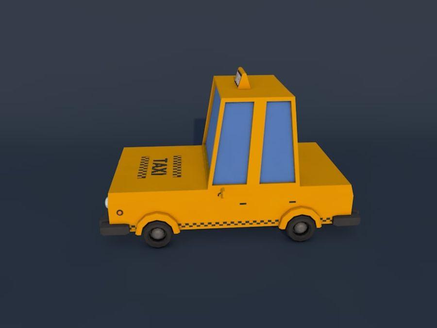低ポリタクシー車2 royalty-free 3d model - Preview no. 2