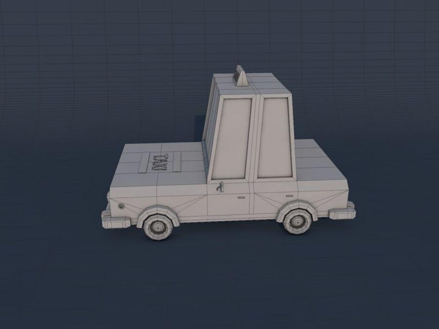 低ポリタクシー車2 royalty-free 3d model - Preview no. 6