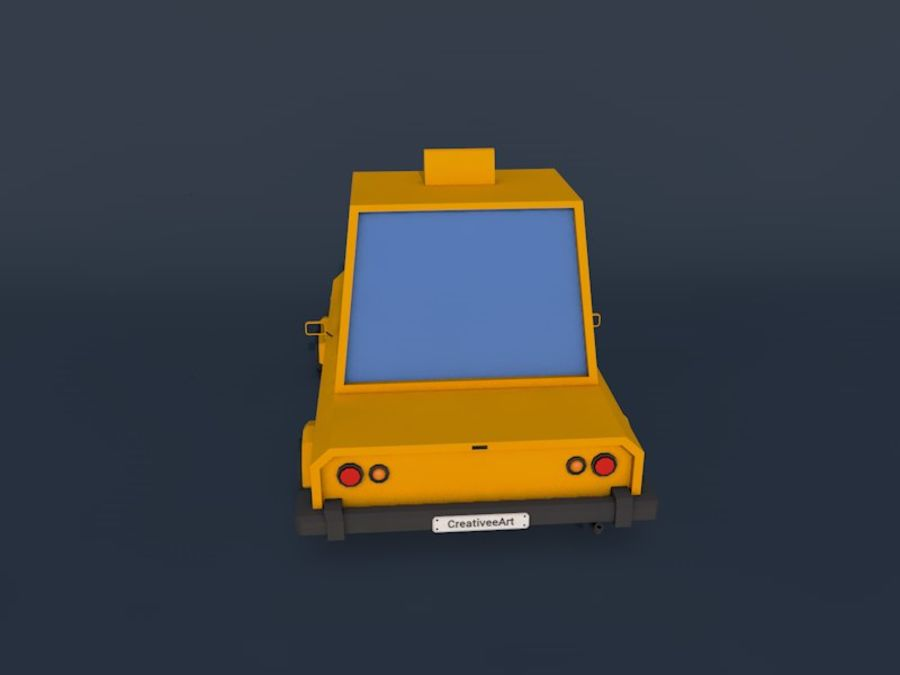 低ポリタクシー車2 royalty-free 3d model - Preview no. 4