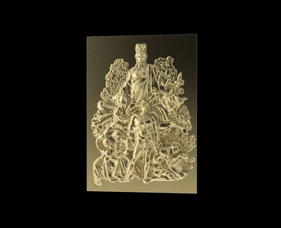 Triumphal Arch bas-relief 3 royalty-free 3d model - Preview no. 1