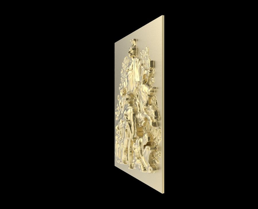 Triumphal Arch bas-relief 3 royalty-free 3d model - Preview no. 4