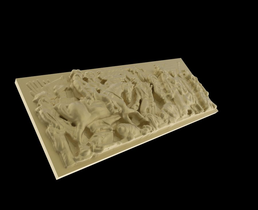 Triumphal Arch bas-relief 5 royalty-free 3d model - Preview no. 4