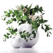 Branch, flowers 3d model
