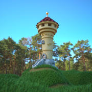 Kreskówka Wieża 3d model