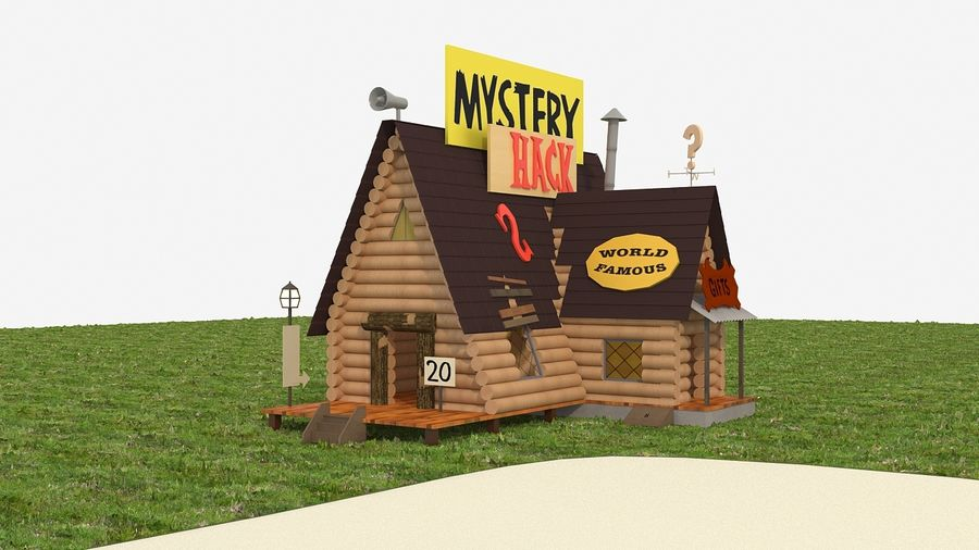 Cabaña misteriosa royalty-free modelo 3d - Preview no. 2