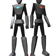 Низкополигональные анимированные дроиды 3d model