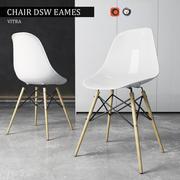 Vitra DSW椅子Eames塑料边 3d model