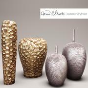 coleção de vasos 3d model