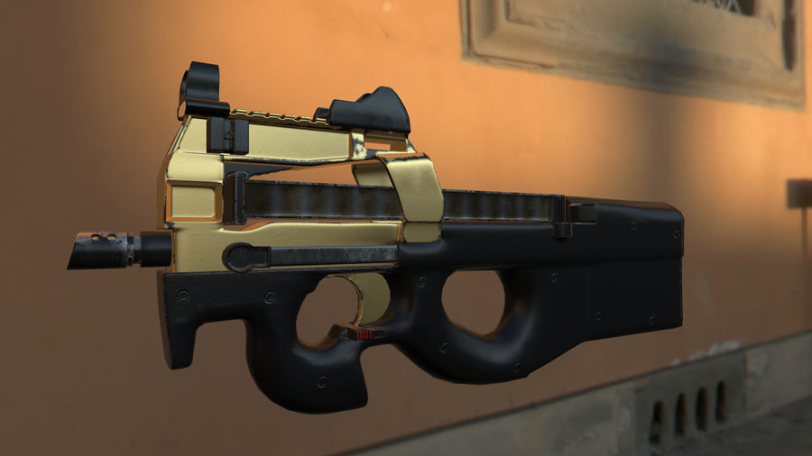 FN P90 royalty-free 3d model - Preview no. 2
