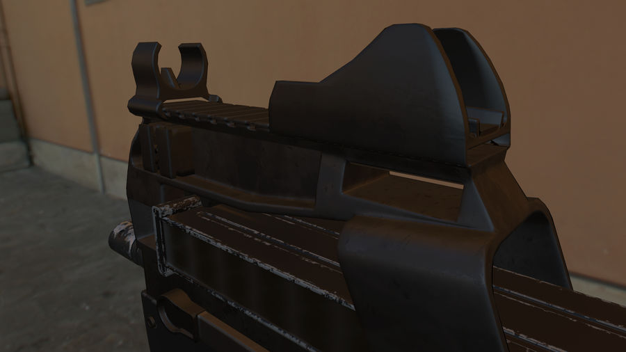 FN P90 royalty-free 3d model - Preview no. 4