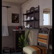 Room Interior (Cycles) 3d model