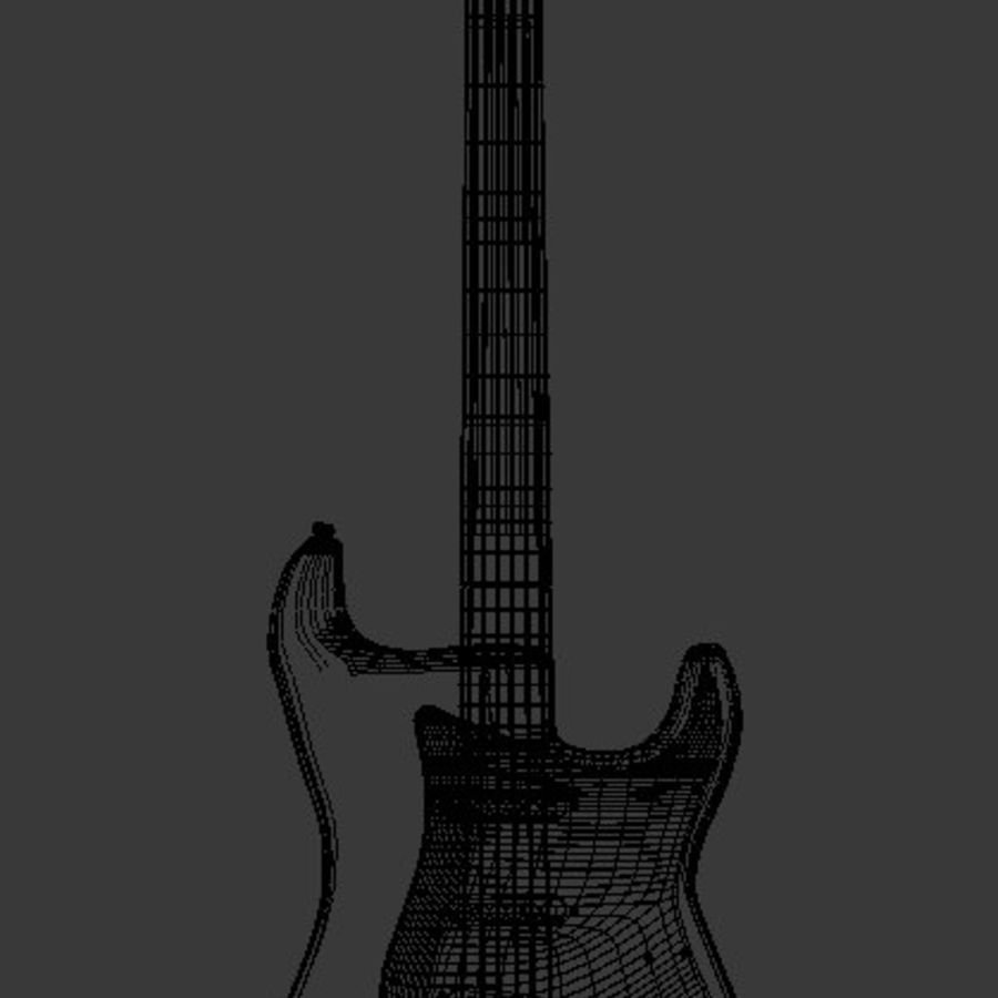 Red Stratocaster Electric Guitar royalty-free 3d model - Preview no. 5