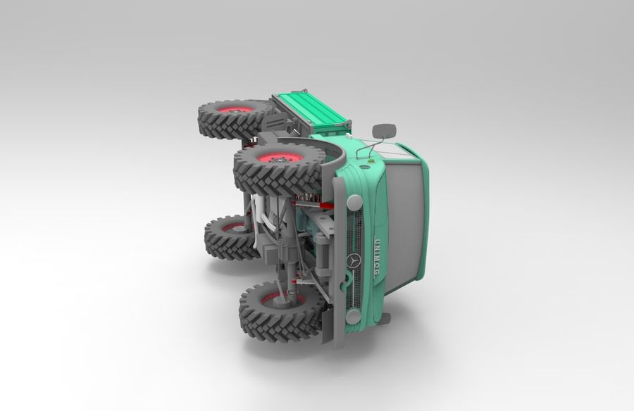 Unimog royalty-free 3d model - Preview no. 2