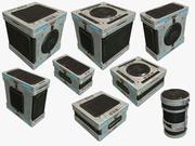Boîte de science-fiction 3d model