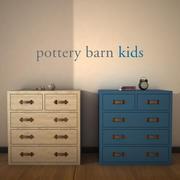 PotteryBarnKids-TuckerDrawerChest 3d model