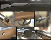 Airgun Haenel Model III-56 Knicker High Poly 3d model