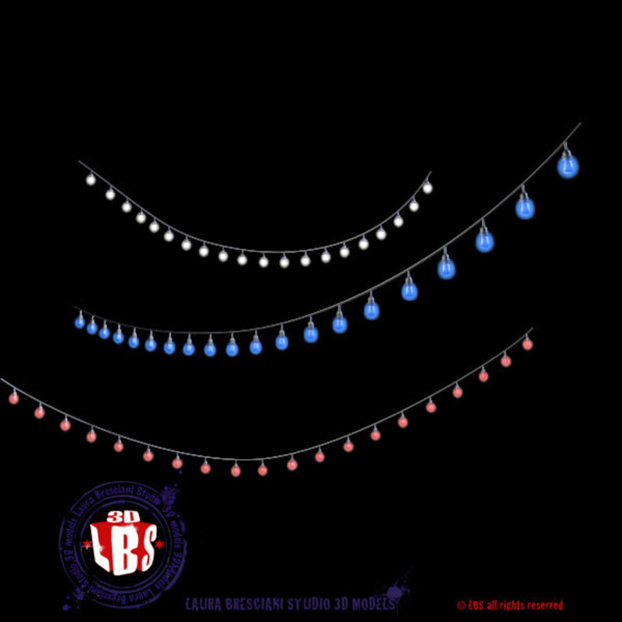 String lights royalty-free 3d model - Preview no. 4
