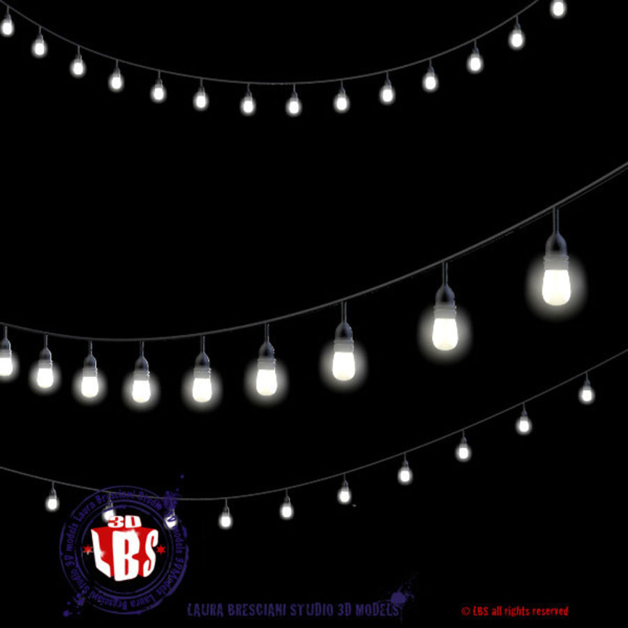 String lights royalty-free 3d model - Preview no. 3