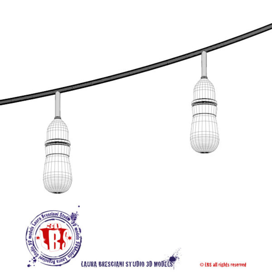 String lights royalty-free 3d model - Preview no. 9