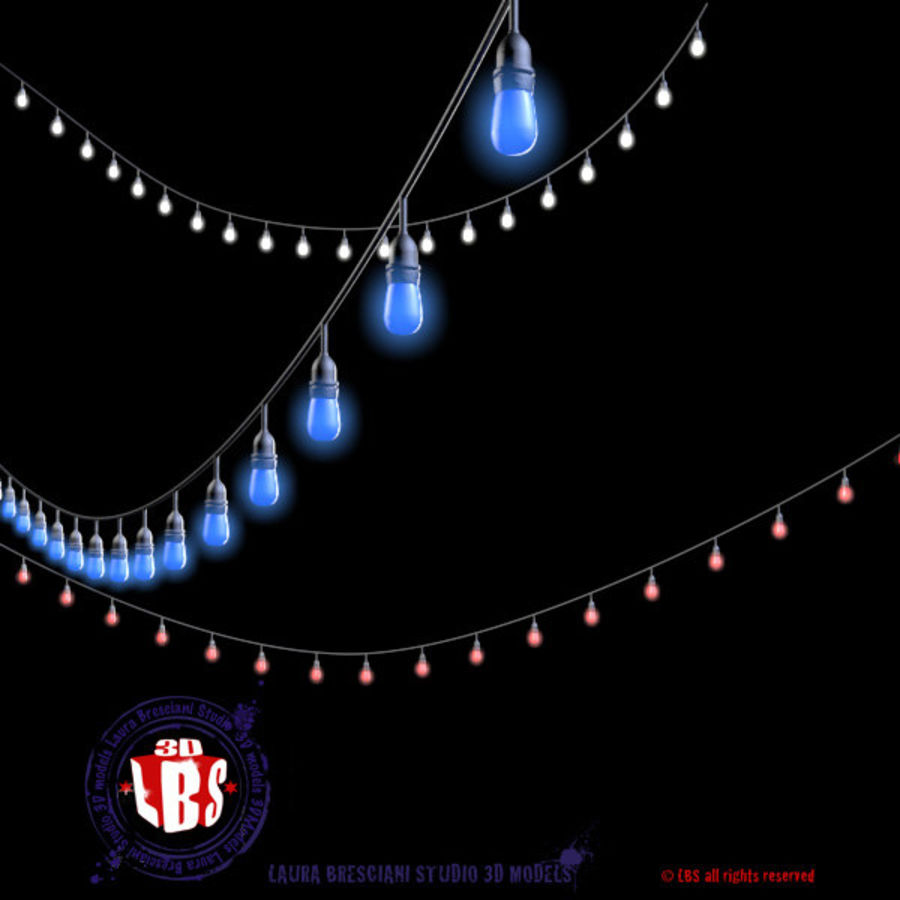 String lights royalty-free 3d model - Preview no. 2